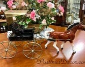 Vintage Metlox Poppy Trail Nostalgia Line Western Horse Carriage Buggy