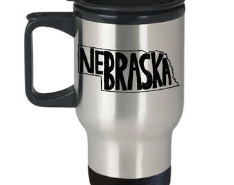 Nebraska Travel Coffee Mug, Nebraska Thermal Mug, Thermal Mug, Nebraska