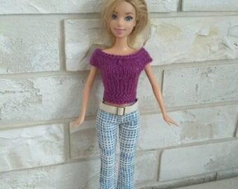 Barbie clothes Blue Barbie pants