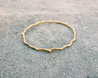 Twig Bangle Bracelet | Solid Bronze | Branch Bangle Bracelet | Bangle