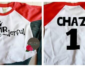 Mr Onederful Shirt Boys, 1st Birthday Boy Outfit, First Birthday Shirt Boy, Boys First Birthday Outfit