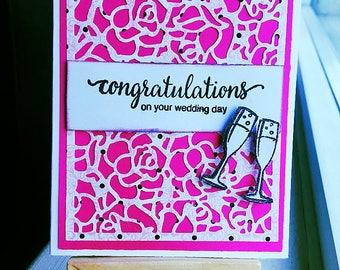 Holiday Cards/Seasons greetingsWedding card/congratulations/Anniversary card/rose background card