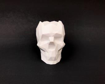 Skull Succulent Planter (Low-Poly), Skull Planter