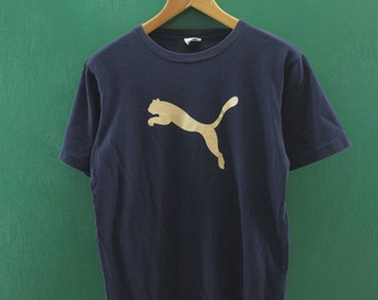 Vintage Puma Shirt Big Logo Sportswear Streetwear Top Tee Blue Color T Shirt Size M