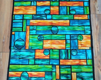 Art Glass Panel Cotton Fabric from P&B Textiles