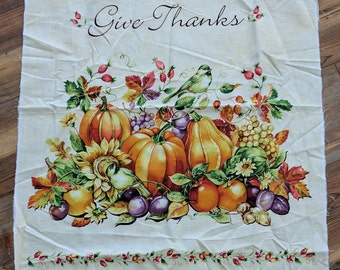 Give Thanks Panel Cotton Fabric Designed by Deborah Edwards for Northcott