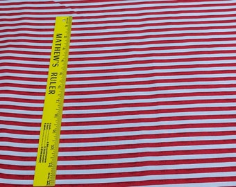 One Nation-Red and White Stripes Cotton Fabric from P&B Textiles