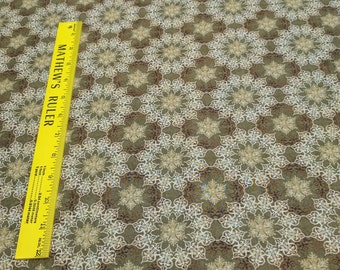 Winter Elegance-Gold Medallion Cotton Fabric from In the Beginning Fabrics