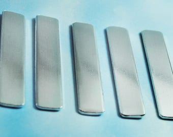 """Twenty-Five 1100 3/8"""" Wide 14g Aluminum Ring Blanks - Mixed Sizes! Small, Medium, and Large"""