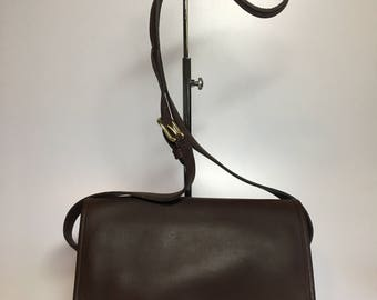 Authentic New Old Stock Vintage COACH Brown Leather Shoulder Crossbody Bag #M9D - 9812 Made in USA