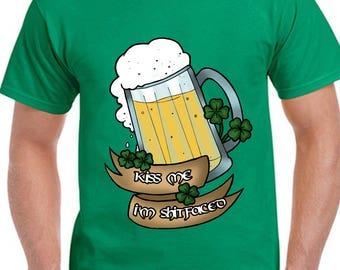 Kiss Me I'm Irish Shirt St Patricks Day Shirt Beer Shirt Irish Shirt St Paddy's Day Shirt Drinking Shirt Irish Pride St Pattys Day Tee TH471