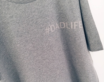CUSTOM (#DADALIFE ETC) Grey Men's Organic, Climate Neutral and Fair Wear Jersey T-Shirt