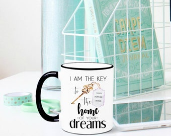 Real Estate Agent Mug, Real Estate Agent Gift, Gift for Real Estate Agent, Sales Gift, Closing Gift, House closing, New Homeowner, Mugs