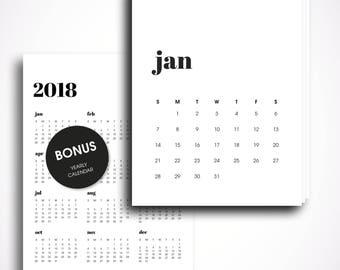 2018 wall calendar, 2018 printable calendar, 2018 desk calendar, 2018 calendar printable, printable calendar 2018, calendar 2018 wall
