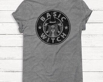 Basic Witch Shirt - Women's Halloween Shirt - Pumpkin Spice - Halloween Shirt - Halloween Shirt - Coffee - Latte - Pumpkin Spice