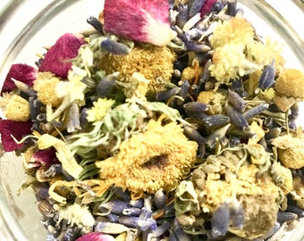 FLORAL BATH TEA/Organic Facial Steam/Floral Facial Steam/Facial Steam/Organic Skincare/Self Care Ritual/Self Care Gift/Herbal Bath Tea