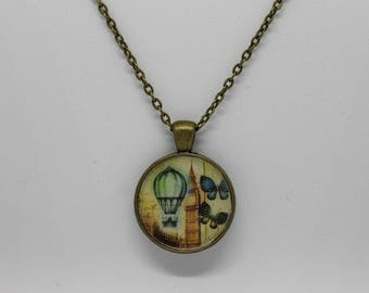 Big Ben Albert Tower London Pendant Necklace Bronze