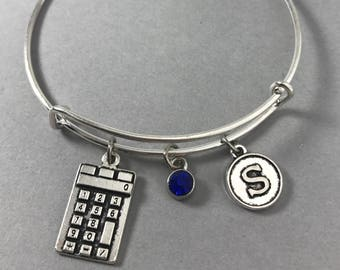 Math Teacher Gift - Accounting - Calculator - Accountant - Gift for CPA - Tax Accountant Gift -  Personalized Jewelry - Gift for Her