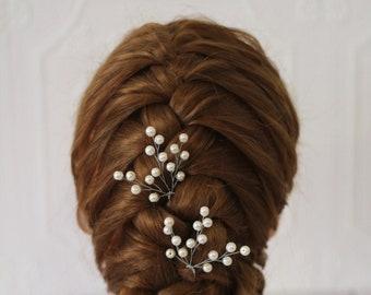 bridal hair pins White pearl hair comb wedding hair piece pearl babys breath head piece babies breath hair bridesmaids comb with pearl