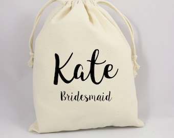 Personalized Bridal Favor Bag, Bridal Shower Gift Bag, Bachelorette Gift Bag, Gifts For Bridal Party