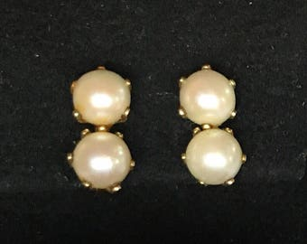 Cultured pearl & gold-fill earrings