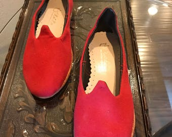 Red Canvas Handmade Shoes