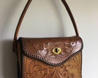 tooled handbag | sturdy | bohemian