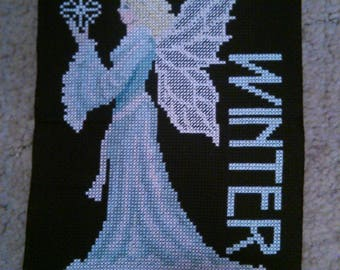 Completed CrossStitch - Winter Fairy