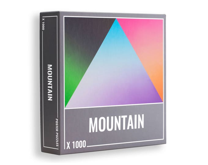 Mountain Puzzle: Beautiful, 1000-piece Gradient Jigsaw for Grown Ups!