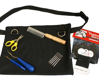 Horse Grooming Plaiting Pouch For Professional Show Horse Plaits ~ 8 Piece Set ~ Personalised Embroidery Available