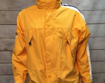 Vintage Yellow Nautica Competition Jacket with hide a way hood