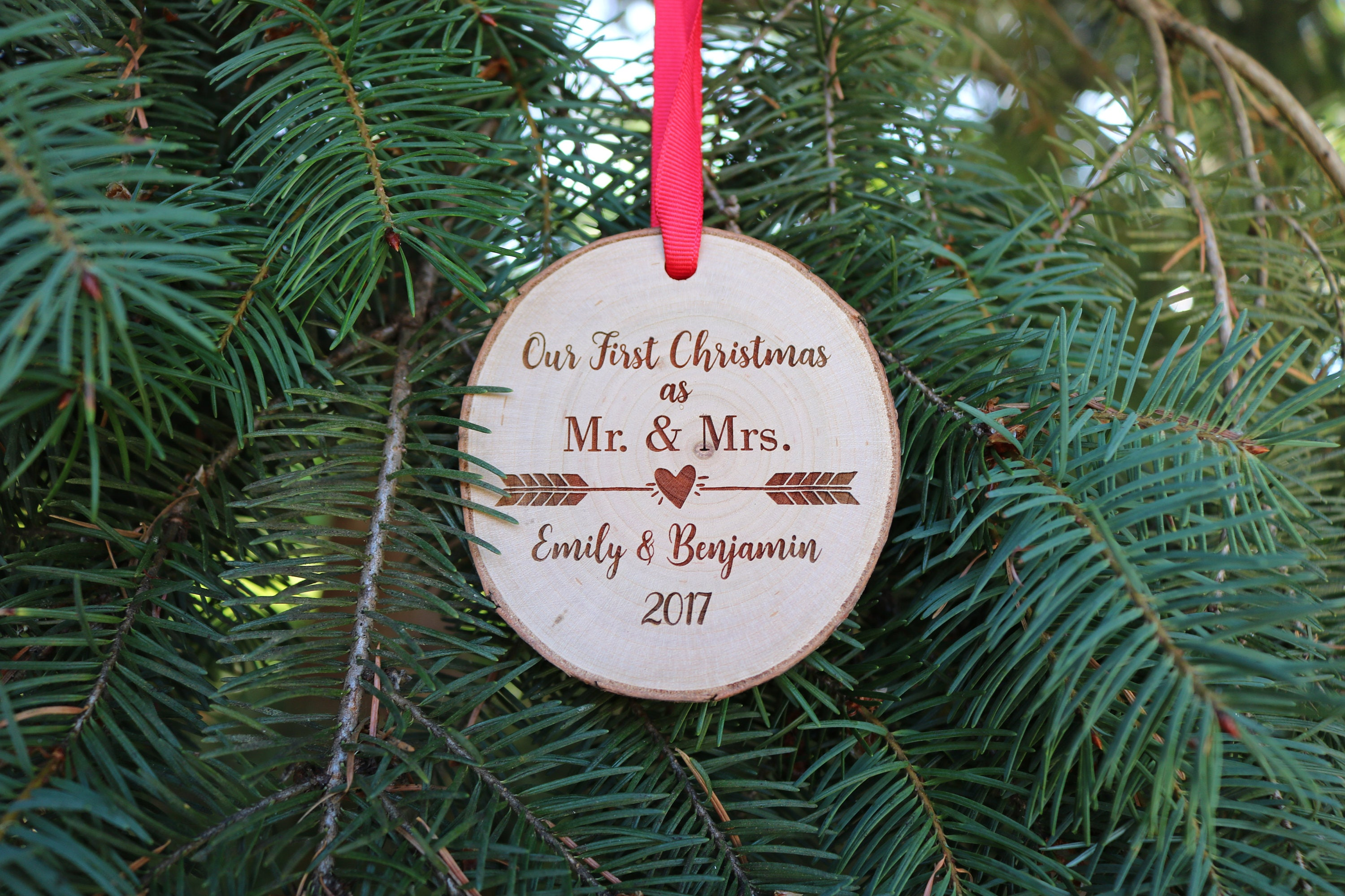 Our First Christmas Ornament Mr And Mrs Ornament Personalized Tree ...