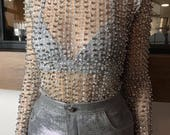 Silver Pearl Top