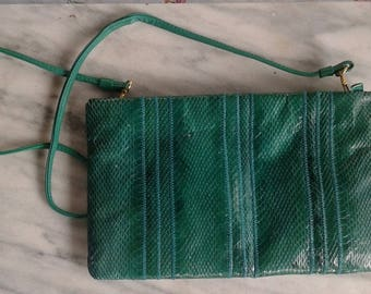 Green Snakeskin Purse