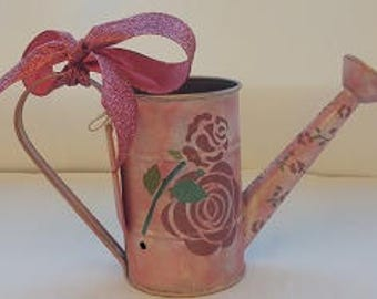 Small Watering Can Novelty Vase CUSTOM ORDER