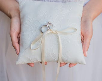 SALE - Ivory French Lace Ring Pillow - Handmade in the USA Ring Bearer Pillow & Ring Bearer Pillows   Etsy SG pillowsntoast.com