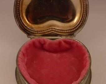 Heart Shaped, Velvet Lined Sweetheart Box