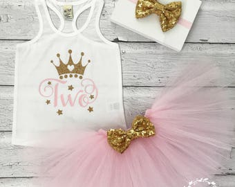 Girls Second Birthday Outfit, 2nd Birthday Outfit, Girls Birthday Outfit, Two, Two Shirt, Two Onesie