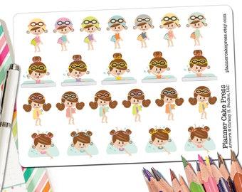 Swim Stickers | Swimming Sticker | Swim Planner Stickers | Swimmer Gift | Swim Team Gift | Swim Coach Gift | Swim Mom Girl | Fits ECLP More