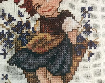 Vintage Needle Treasures Counted Cross Stitch Bashful Banner