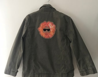 Upcycled Jerry Garcia Patch Kids Army Coat