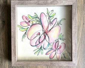 Original Artwork: Abstract Flowers