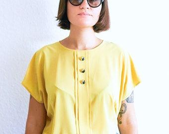 Vintage 90s mustard gold top