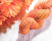 The Girl On Fire, Hand dyed yarn, superwash wool blend, fingering weight hand dyed yarn, Hunger Games inspired yarn
