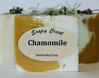 Chamomile Soap, Natural Soap, Handmade Soap, Cold Process Soap, Handcrafted Soap, Homemade Soap, Fragrance Oil Soap, Herb Soap, Bar Soap