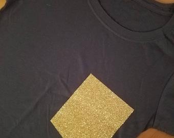 Gold Glitter Pocket Tee