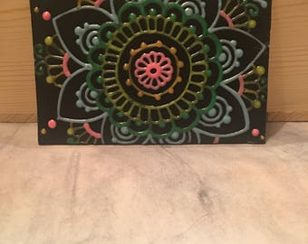 Neon Glow in the Dark Small Floral Painting