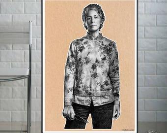 Carol - The Walking Dead - Fine Art Print - A4/A3