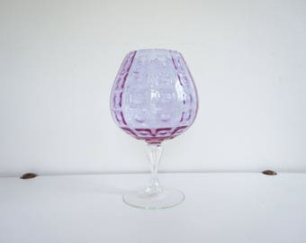 Vase - Pink Purple vintage Empoli 1950s Italian glassware