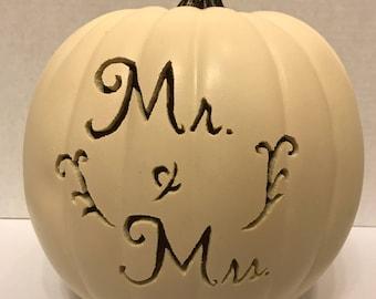 Personalized Mr. & Mrs. Pumpkin